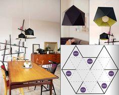wohnzimmer rustikal mit esszimmertisch holz und DIY Lampe aus Palier