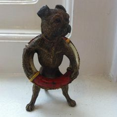 Vienna Cold Painted Bronze Pug Dog in Life Jacket