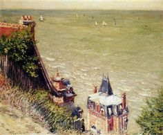 """""""The Pink villa at Trouville"""" -Gustave Caillebotte  #Normandy"""