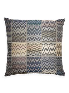 Missoni Home pillow. This would look great on a cream leather chair.