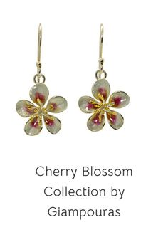 flower dangle earrings #botanicalearrings #bridalearrings Bridal Earrings, Dangle Earrings, Titanium Jewelry, Small Business Marketing, Cherry Blossom, Promotion, Dangles, Fashion Accessories, Eye