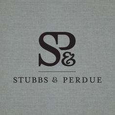 """Stubbs & Perdue"" Logo by Nina Randone Graphic Design Typography Logo, Logo Branding, Typography Design, Branding Design, Graphic Design Art, Lettering, Ad Design, Wedding Logo Design, Wedding Logos"