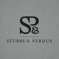 Logo Design for Stubbs & Pedue, a law firm in New Bern, NC. Design by Nina Randone Graphic Design, www.ninarandonegraphicdesign.com  #logo #type #initials