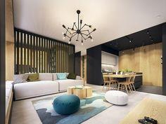 salon-moderne-canape-rose-tapis-sol-bleu