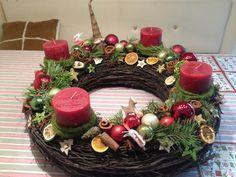Weihnachten - schöner großer Adventskranz - ein Designerstück von Die-Landprimel bei DaWanda