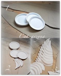 From paper plates to giant angels wings -- you can arrange over mantle or headboard, anywhere you have space...