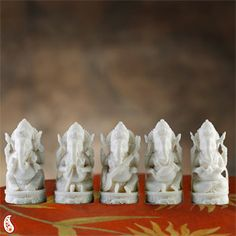 Set of five Ganesha statues holding five different musical instruments creates a unique character for each piece. Costs Rs 3955/- http://www.tajonline.com/gifts-to-india/gifts-AR5167.html?aff=pinterest2013/