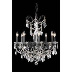 Elegant Lighting Athena 8 Light Crystal Chandelier Finish: Dark Bronze, Crystal Grade: Swarovski Element