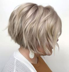 Stacked Razored Bob With Bangs Short Stacked Bob Haircuts, Stacked Bob Hairstyles, Bob Hairstyles With Bangs, Short Haircuts, Braided Hairstyles, 2015 Hairstyles, Celebrity Hairstyles, Short Hair With Layers, Short Hair Cuts For Women