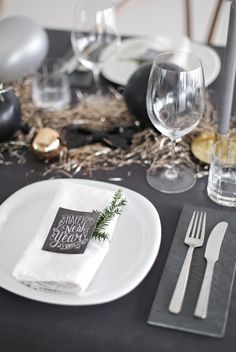 New Year´s table setting