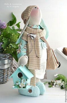 Tilda doll Bunny / Игрушки животные, ручной работы. Кролик Доминик. Дзигора Наталья. Интернет-магазин Ярмарка Мастеров. Зайцы, весеннее настроение, твид