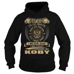 Awesome Tee KOBY Last Name, Surname T-Shirt T shirts