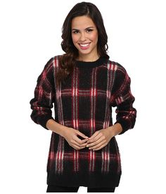 MICHAEL Michael Kors Plaid Long Sleeve Crew Neck Sweater | Pretty Little Liars