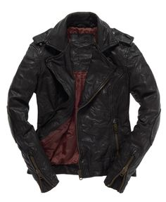 Same leather jacket I pinned before...... But I want it :D .... Superdry Premium Classic Jacket - Women's Leathers