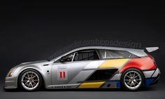 Cadillac CTS-V Sport Wagon Race Car.