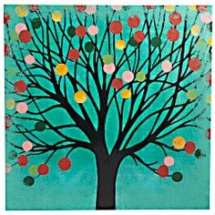 This is very cute, it is from Pier 1. You could make it yourself easily...use anything around the house for the circles. Felt pom poms dipped in paint?!
