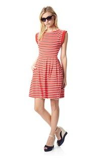 County Cotton Striped Dress - French Connection