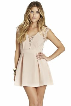 Bcbgeneration lace-inset v-back dress