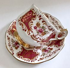 Pretty china tea cup and saucer made by Elizabethan China co. in England It is in good condition, no chips, cracks or crazing. Please Note: The items I sell are not new, they are vintage or antiques, it goes without saying that there maybe some imperfections which I will try