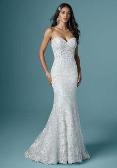 Bridal Elegance, Blush Gown, Wedding Dress Necklines, Girls Dresses, Flower Girl Dresses, Maggie Sottero Wedding Dresses, Wedding Dress Pictures, Designer Wedding Dresses, Bridal Gowns