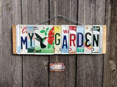 Recycled. License Plate. Room Decor. Sign. Wall by 1BentKeepsake