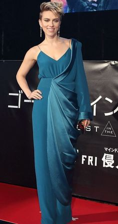 Scarlett Johansson in Balmain attends the 'Ghost In The Shell' Japan premiere. #bestdressed