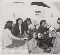 Old-timey dorm room Digital Image, Dorm Room, Room Inspiration, My Dream, 1940s, Attic, Students, Room Decor, College