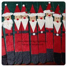 Popsicle stick Santa Clause HoHoHo