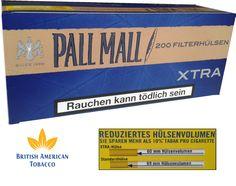 Tuburi tigari Pall Mall Xtra - 1 cutie contine 200 tuburi tigari, filtru tigara maro, dimensiune standard, filtru interior este de 25 mm. Detalii si comenzi la tel.: 0744545936 sau pe www.tuburipentrutigari.ro