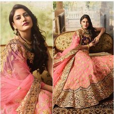When you don't just love the twilr but the lehenga too perfect collection for upcoming season price range… Mehndi Dress For Bride, Dulhan Dress, Pakistan Wedding, Indian Fashion Dresses, Indian Bridal Wear, Desi Clothes, Pakistani Outfits, Indian Designer Wear, Lehenga