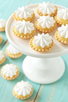Mini Lemon Meringue Pies made with Microwave Lemon Curd, see pin