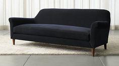 Cullen II Roll Arm Velvet Sofa Love this Crate & Barrel Sofa