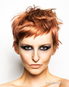Modern Muse by Halo Hair & Beauty Pixie Crop, Pixie Hairstyles, Cool Hairstyles, Short Pixie Haircuts, Hairstyle Ideas, Easy Hairstyle, Wedding Hairstyle, Short Copper Hair, Copper Bob