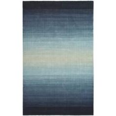 Martha Stewart Ombre Gradient Blue Wool Rug (8' x 10') | Overstock.com Shopping - Great Deals on Safavieh 7x9 - 10x14 Rugs