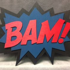 LARGE Comic book BAM! Wall Art  This wall art is made for anywhere in your home, at work, or whereever you want to add a little fun! It has an easy cut out in the back that can be hung on a nail, tack