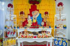 What an amazing Beauty and the Beast birthday party! See more party ideas at CatchMyParty.com!