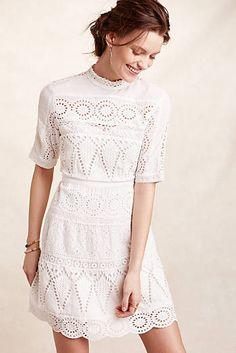 Juliet Kleid mit Ösen, Weiß