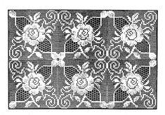 Rose Filet motif Crochet Pattern 7120 for Scarfs Cloths Bed Spreads Pillows Crochet Diagram, Filet Crochet, Crochet Motif, Crochet Doilies, Crochet Flowers, Knit Crochet, Crochet Tablecloth Pattern, Crochet Abbreviations, Vintage Crochet Patterns