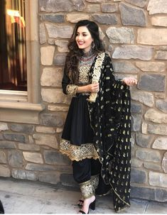 Source by Dokhtarana dresses afghani clothes Indian Wedding Outfits, Pakistani Outfits, Indian Outfits, Afghan Wedding Dress, Stylish Dresses, Fashion Dresses, Punjabi Dress, Punjabi Suits, Black Punjabi Suit