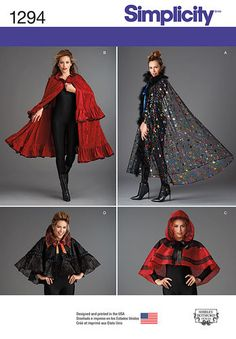 Misses' Capes in Four Styles