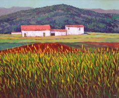 Agricultural scene - oil on canvas - 60x50 cm