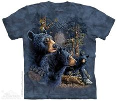 Find 13 Black Bears T-Shirt by The Mountain. Hidden Images Tee Puzzle NEW. From The Mountain's Hidden Images collection. A great gift and puzzle. Can you find them all? Tiger T-shirt, Hidden Images, American Animals, Bear Graphic, Image T, Bear Design, Animal Design, Bear T Shirt, Mountain Man