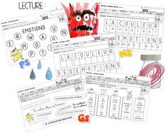 La couleur des émotions Tot School, Monster, Stage, Bullet Journal, Notebook, Activities, Education, Feelings, Creative