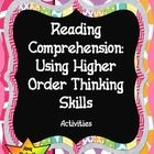 It is important to attain higher order thinking skills for our students as we tackle the new common core standards. This packet includes different ...