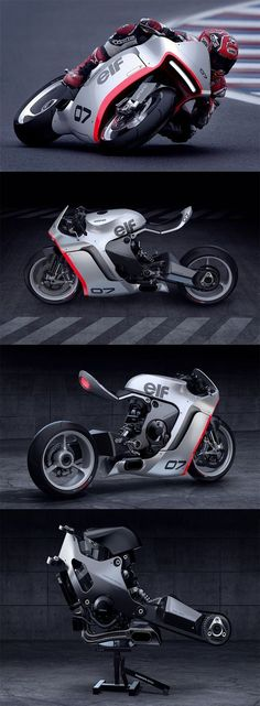 """The 'MONO RACR' is a virtual bike that began with a """"CLEAN and MEAN"""" design philosophy built around a 1000cc Honda in-line 4 cylinder motor... READ MORE at Yanko Design !"""