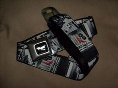DC COMIC BATMAN DARK KNIGHT ADJUSTABLE BUCKLE DOWN SEATBELT BELT OSFM SPENCER'S #BUCKLEDOWN