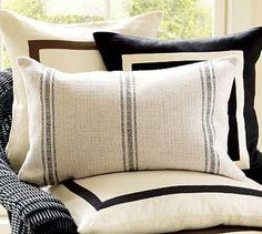 "Like the grain sack ""like"" pillow."