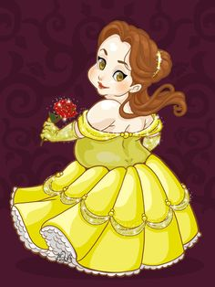 Cute Plus-Size Disney Princess Belle Disney Fan Art, Disney Love, Disney Magic, Disney Princess Belle, Girl Cartoon Characters, Cartoon Art, Fat Girl Cartoon, Deviant Art, Alternative Disney Princesses