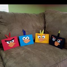 Our Angry Birds birthday invitations!