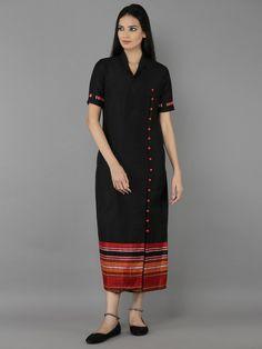 Black Cotton Silk Maxi